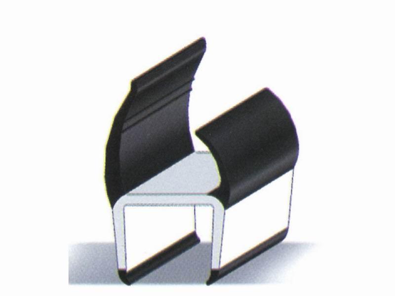 Профиль дверной ПВХ 21 мм (черно-белый)5м